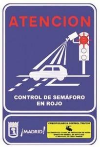 Cartel semaforos rojo
