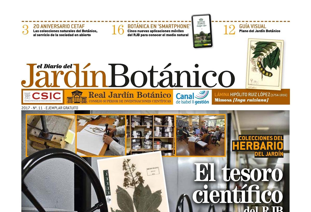 El n mero 11 del diario del jard n bot nico da a conocer for Jardin botanico numero telefonico