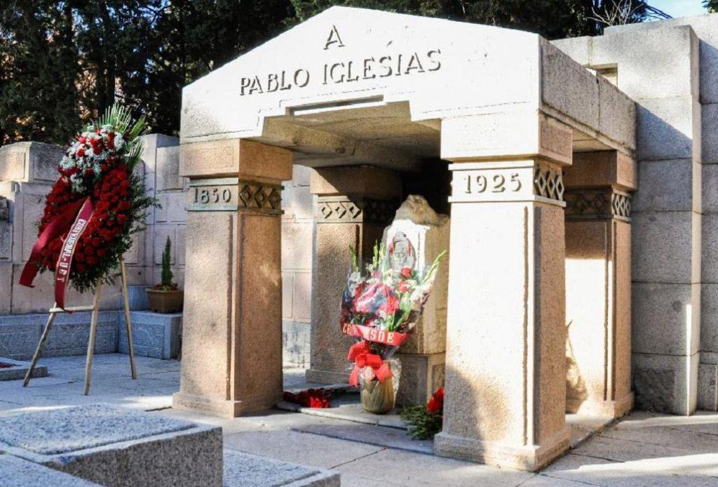 PSOE y UGT homenajearán este lunes a Pablo Iglesias en el Cementerio Civil de Madrid