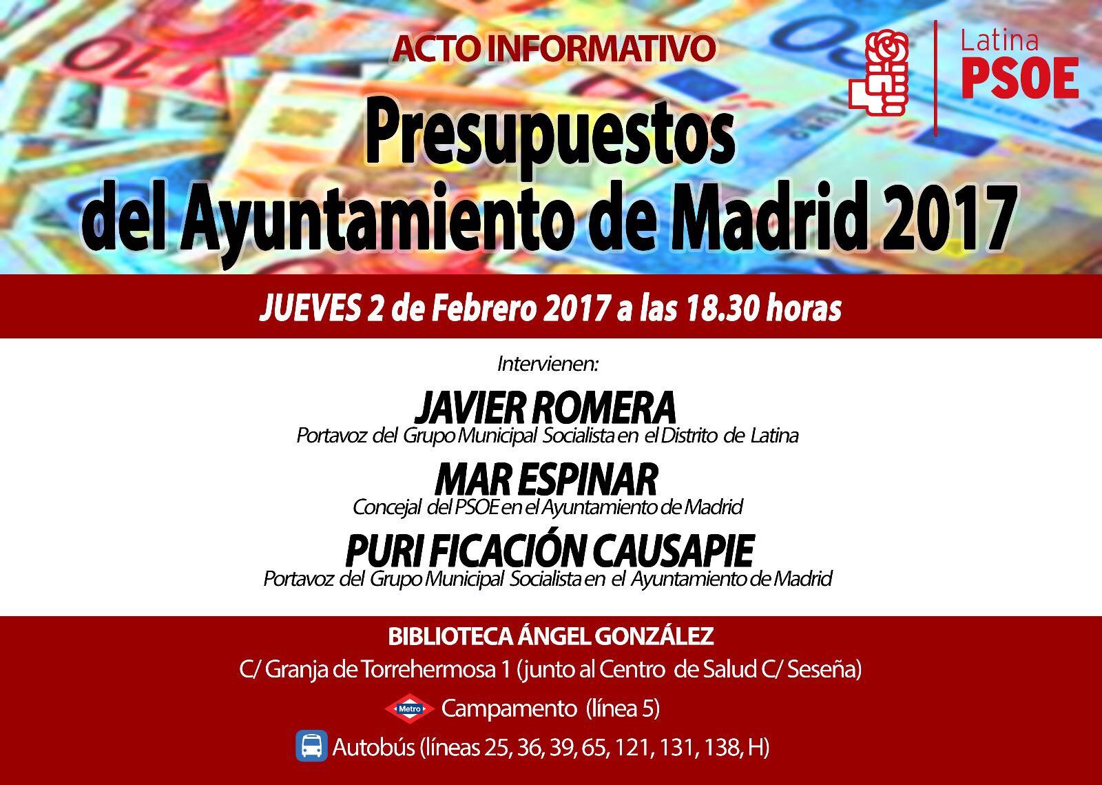 El PSOE de Latina organiza este jueves un acto sobre los