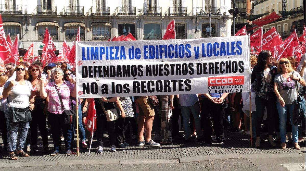 Firmado el convenio de limpieza de edificios y locales de for Convenio oficinas y despachos comunidad de madrid