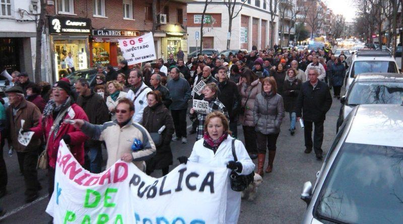 Manifestación por la sanidad pública de Carabanchel