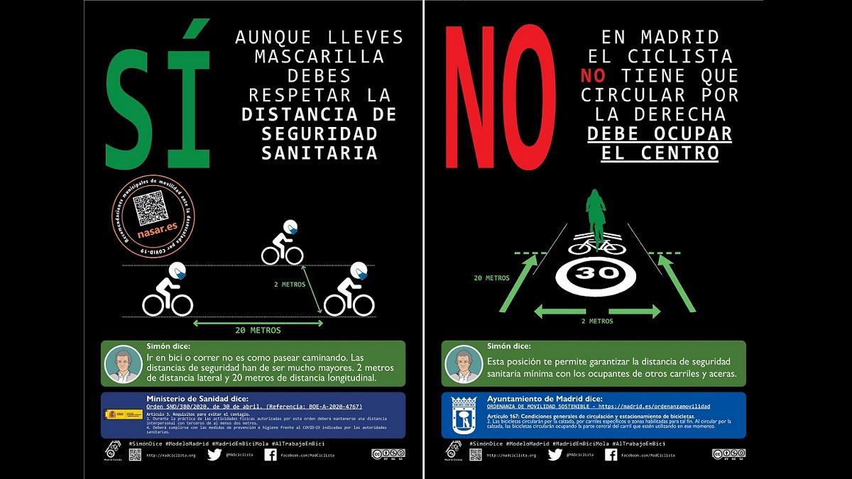 Madrid Ciclista lanza una campaña informativa sobre la desescalada ...